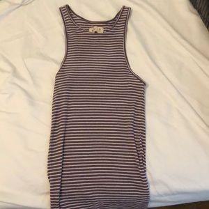 Hollister purple striped shirt